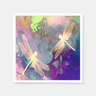 Malerei-Libellen u. Orchideen Serviette