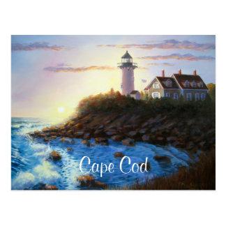 Malerei-Postkarte Nobska Leuchtturm-Cape Cods MA Postkarte