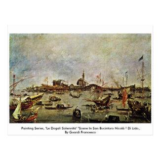 "Malerei-Reihe, ""Le Dogali Solennità"" "" Postkarte"