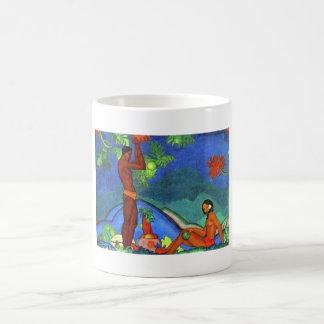 Malerei von Arman Manookian circa zwanziger Kaffeetasse