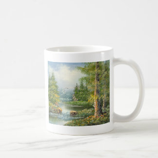 Malerei von einem Wildnis-Fluss Kaffeetasse
