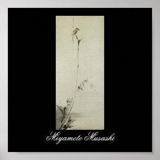 Malerei von Miyamoto Musashi C 1600 s Poster