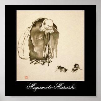 Malerei von Miyamoto Musashi C 1600 s Plakate