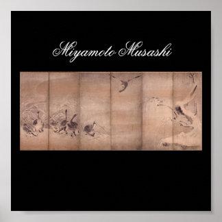 Malerei von Miyamoto Musashi, C. 1600's Poster
