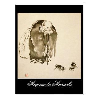 Malerei von Miyamoto Musashi, C.1600s Postkarte