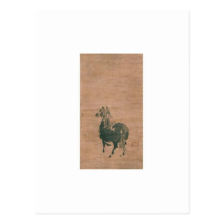 Malerei von Miyamoto Musashi, C. 1600's Postkarte
