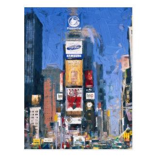 Malerei von Times Square Manhattan New York Postkarte