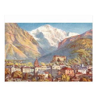 Malerische die Schweiz-Szene Postkarte