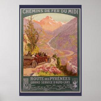 Malerische Pyrenäen Poster