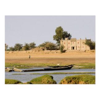 Mali, Djenne. Bani Fluss nahe Djenne Postkarte