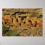 MALI, Dogon Länder. Traditioneller Tellem Malian Plakatdruck