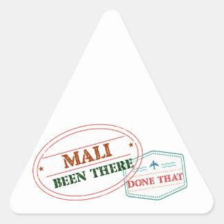 Mali dort getan dem dreieckiger aufkleber