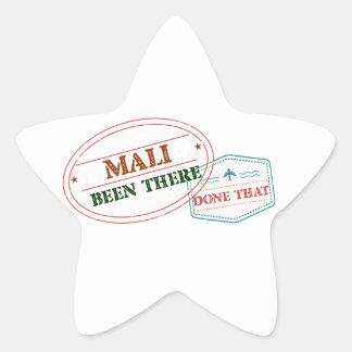Mali dort getan dem Stern-Aufkleber