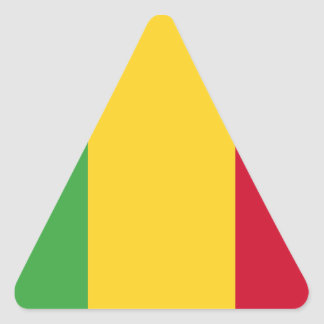 Mali Dreieckiger Aufkleber