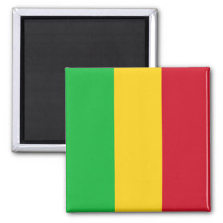 Mali-Flagge Quadratischer Magnet