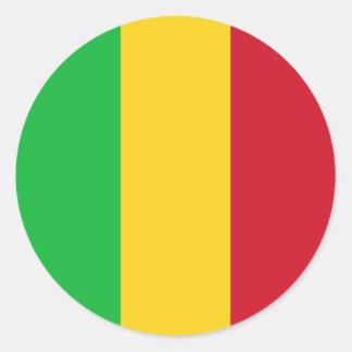 Mali-Flagge Runder Aufkleber