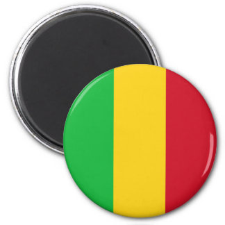 Mali-Flagge Runder Magnet 5,7 Cm