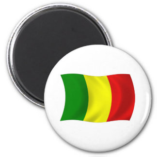 Mali-Flaggen-Magnet Runder Magnet 5,7 Cm