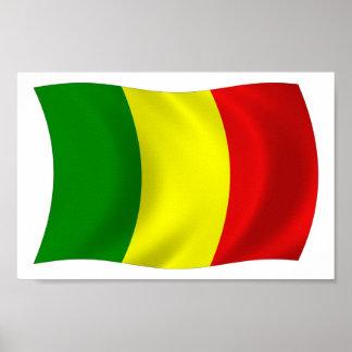 Mali-Flaggen-Plakat-Druck Poster