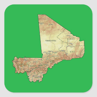 Mali-Karten-Aufkleber Quadratischer Aufkleber