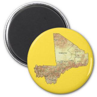 Mali-Karten-Magnet Runder Magnet 5,1 Cm