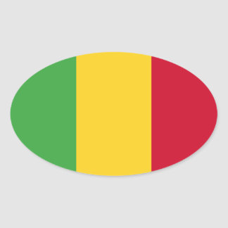 Mali Ovaler Aufkleber