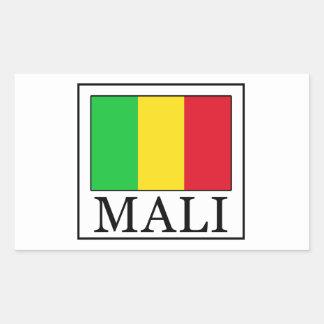 Mali Rechteckiger Aufkleber