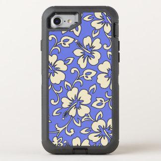 Malia Hibiskus hawaiischer Pareau Druck im Peri OtterBox Defender iPhone 8/7 Hülle