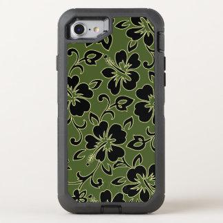 Malia Hibiskus hawaiischer Pareau Druck in der OtterBox Defender iPhone 8/7 Hülle