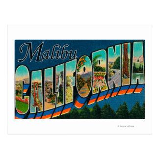 Malibu, Kalifornien - große Buchstabe-Szenen Postkarte
