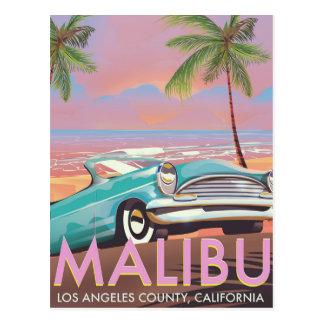 Malibu, Los Angeles, Kalifornien-Reiseplakat Postkarte