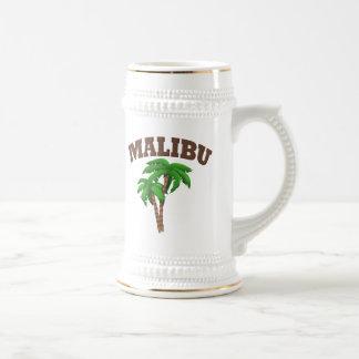 Malibu mit Palme Bierglas