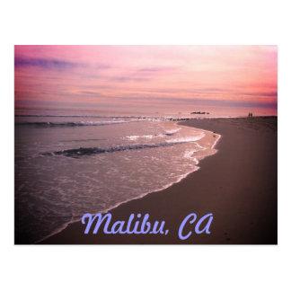 Malibu-Strand Postkarte