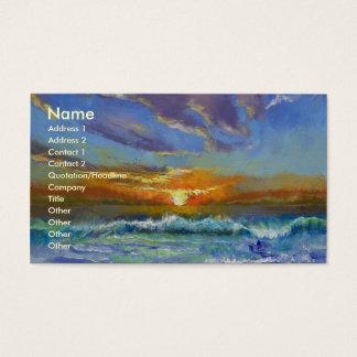 Malibu-Strand-Sonnenuntergang Visitenkarte