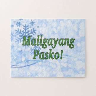 Maligayang Pasko! Frohe Weihnachten in Tagalog gf Puzzle