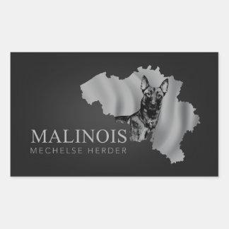 Malinois - belgischer Schäfer - Mechelaar - Rechteckiger Aufkleber