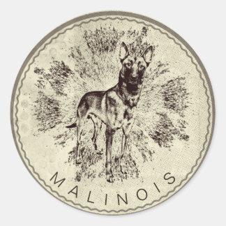 Malinois - belgischer Schäfer - Mechelaar - Runder Aufkleber