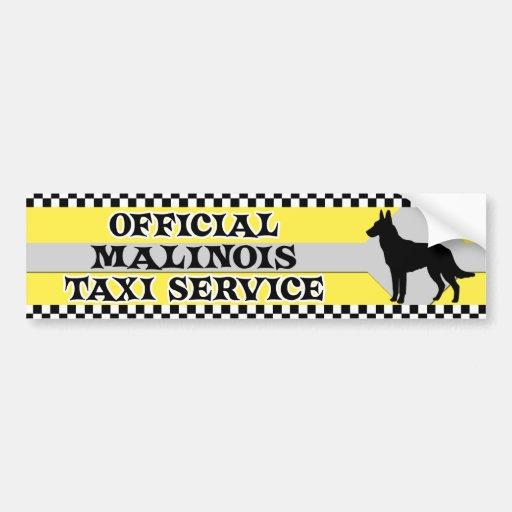 Malinois Taxi-Service-Autoaufkleber