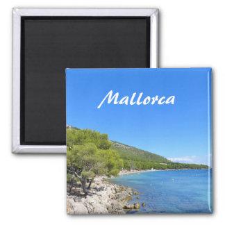 Mallorca - Kühlschrank-Magnet Quadratischer Magnet
