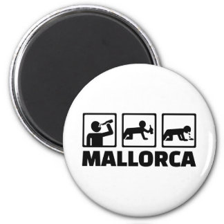 Mallorca-Party Runder Magnet 5,7 Cm