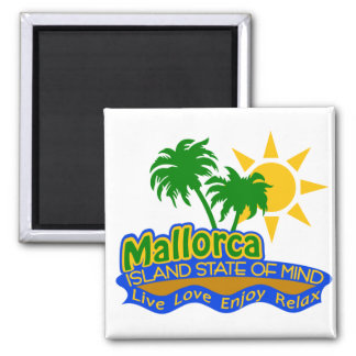 Mallorca-Staat des Sinnesmagneten Quadratischer Magnet
