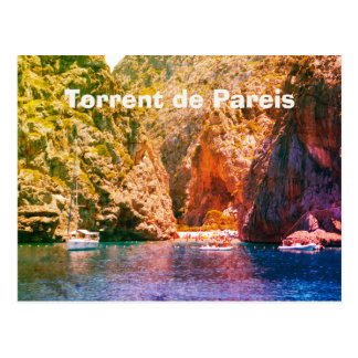 Mallorca, Vintage Torrent de Pareis Travel Postkarte