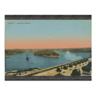 Malta - begrüßenbatterie, Vintag Postkarte