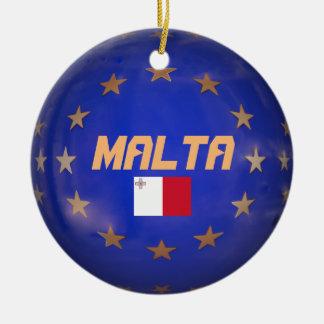 Malta EU kennzeichnen kundenspezifische Rundes Keramik Ornament