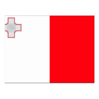 Malta-Flagge Postkarte