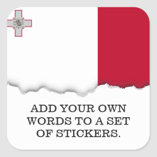 Malta-Flagge Quadratischer Aufkleber