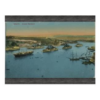 Malta - großartiger Hafen, Vintag Postkarte