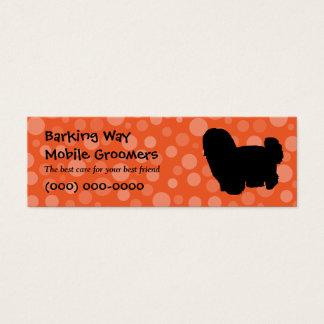 Maltesische Haustierpflege-Orange Mini Visitenkarte