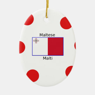 Maltesische (Malti) Sprache und Keramik Ornament