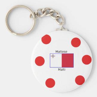 Maltesische (Malti) Sprache und Schlüsselanhänger